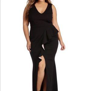 BLACK RUFFLE ENCHANTMENT DRESS